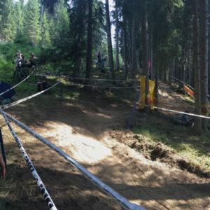 Část downhillové tratě