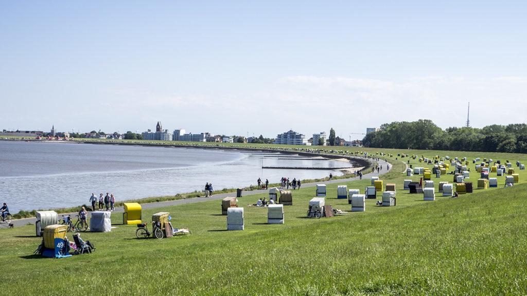 Promenáda v Cuxhavenu
