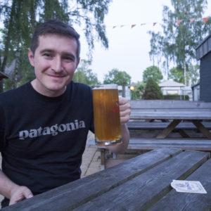 Po pár dnech a prvních pár stovkách kilometrů konečně pivko