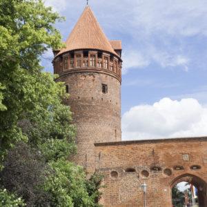 Hradby a věž v Tangermünde