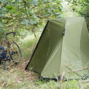 Wildcamping přímo na hrázi Labsko-Havelského kanálu