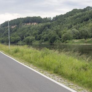 Za Pirnou začíná nejhezčí úsek cesty