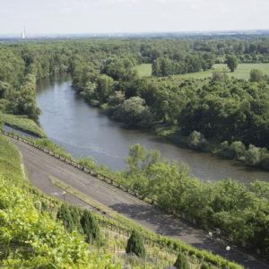 Pohled na soutok Labe a Vltavy v Mělníku
