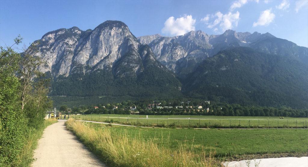 Cyklostezka od letiště do města — Crankworx Innsbruck 2017